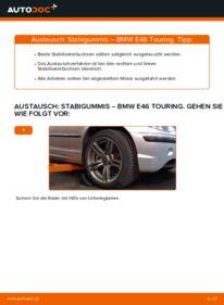Wie der Wechsel durchführt wird: Stabigummis 320d 2.0 BMW 3 Touring (E46) tauschen