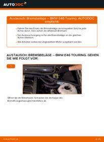 Wie der Wechsel durchführt wird: Bremsbeläge 320d 2.0 BMW E46 Touring tauschen