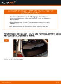 Wie der Wechsel durchführt wird: Domlager 320d 2.0 BMW 3 Touring (E46) tauschen