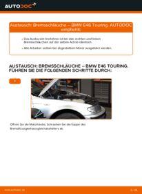 Wie der Wechsel durchführt wird: Bremsschläuche 320d 2.0 BMW E46 Touring tauschen