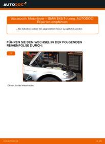 Wie der Wechsel durchführt wird: Motorlager BMW 3 Touring (E46) 320d 2.0 320i 2.2 330d 2.9 tauschen