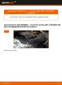 Wie der Wechsel durchführt wird: Keilrippenriemen 1 Toyota Aygo AB1 tauschen
