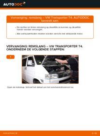 Vervangen: Remslang VW TRANSPORTER