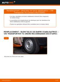 Comment effectuer un remplacement de Silent Bloc de Barre Stabilisatrice sur 2.5 TDI VW Transporter T4