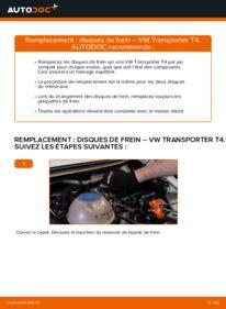 Comment effectuer un remplacement de Disques De Frein sur 2.5 TDI VW T4 Transporter