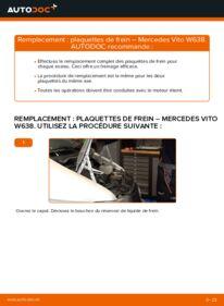 Comment effectuer un remplacement de Plaquettes de Frein sur 112 CDI 2.2 (638.194) Mercedes W638 Bus