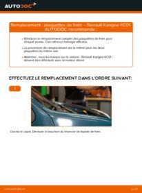 Comment effectuer un remplacement de Plaquettes de Frein sur D 65 1.9 Renault Kangoo kc01