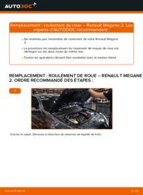 Comment effectuer un remplacement de Roulement De Roues sur 1.6 RENAULT MEGANE II Saloon (LM0/1_)