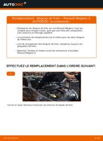 Comment effectuer un remplacement de Disques De Frein sur 1.6 RENAULT MEGANE II Saloon (LM0/1_)