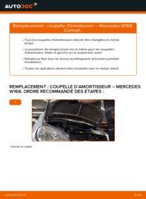 Comment effectuer un remplacement de Coupelle d'Amortisseur sur A 140 1.4 (168.031, 168.131) Mercedes W168