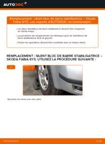 Comment effectuer un remplacement de Silent Bloc de Barre Stabilisatrice sur 1.4 16V Skoda Fabia 6y5