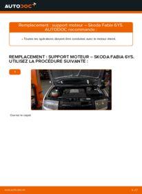 Comment effectuer un remplacement de Support Moteur sur 1.4 16V Skoda Fabia 6y5