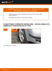 Hvordan man udfører udskiftning af: Bærearm på 1.4 16V Skoda Fabia 6y5