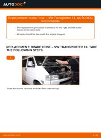 How to carry out replacement: Brake Hose on 2.5 TDI VW T4 Transporter