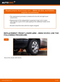 How to carry out replacement: Control Arm on 3.0 d BMW E53
