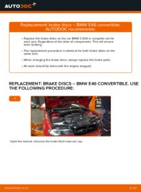 How to carry out replacement: Brake Discs on 330Ci 3.0 BMW 3 Convertible (E46)