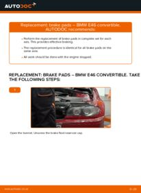 How to carry out replacement: Brake Pads on 330Ci 3.0 BMW 3 Convertible (E46)