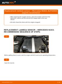 How to carry out replacement: Lambda Sensor on C 220 CDI 2.2 (203.006) Mercedes W203
