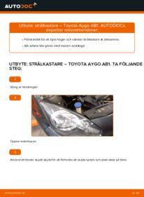 Så byter du Huvudstrålkastare på 1 Toyota Aygo ab1