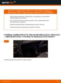 Ako vykonať výmenu: Kabínový filter na E 300 3.0 Turbo Diesel (210.025) Mercedes W210
