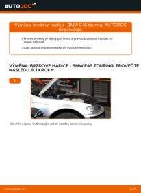 Jak provést výměnu: Brzdove hadicky na 320d 2.0 BMW 3 Touring (E46)