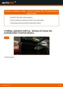 Jak provést výměnu: Zadni svetlo na 1.9 TDI Octavia 1z5