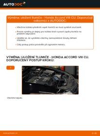 Jak provést výměnu: Uložení Tlumičů na 2.0 i (CU1) Honda Accord VIII CU