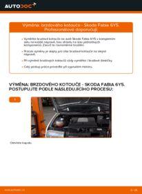 Jak provést výměnu: Brzdovy kotouc na 1.4 16V Skoda Fabia 6y5
