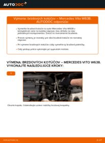 Ako vykonať výmenu: Brzdový kotouč na 112 CDI 2.2 (638.194) Mercedes W638 Bus
