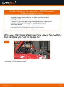 Kako izvesti menjavo: Roka na 330Ci 3.0 BMW 3 Convertible (E46)