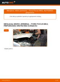 Kako izvesti menjavo: Rebrasti jermen na 1.6 TDCi Ford Focus mk2 Sedan