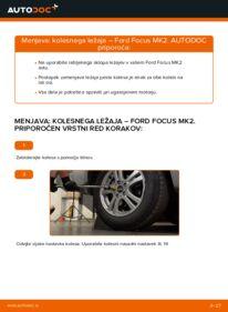 Kako izvesti menjavo: Kolesni lezaj na 1.6 TDCi Ford Focus mk2 Sedan