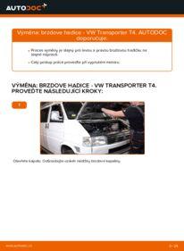 Jak provést výměnu: Brzdove hadicky na 2.5 TDI VW T4 Transporter
