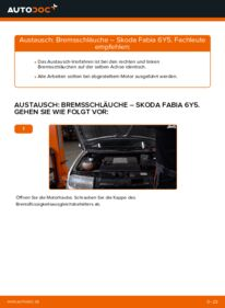 Wie der Wechsel durchführt wird: Bremsschläuche Skoda Fabia 6y5 1.4 16V 1.9 TDI 1.2 tauschen