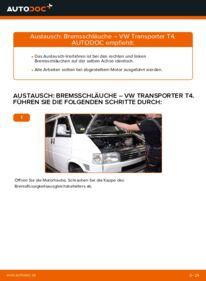 Wie der Wechsel durchführt wird: Bremsschläuche 2.5 TDI VW T4 Transporter tauschen