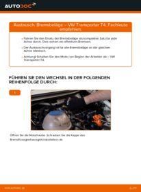 Wie der Wechsel durchführt wird: Bremsscheiben 2.5 TDI VW T4 Transporter tauschen