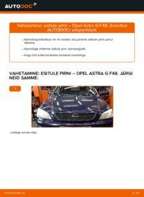Kuidas välja vahetamist läbi viia: 1.6 16V (F08, F48) Opel Astra g f48 Esitule pirn