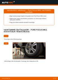 Kuidas välja vahetamist läbi viia: 1.6 TDCi Ford Focus mk2 Sedaan Rattalaager