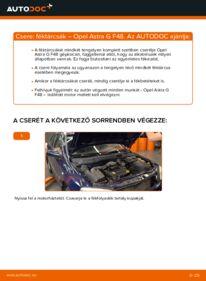 Hogyan végezze a cserét: 1.6 16V (F08, F48) Opel Astra g f48 Féktárcsa
