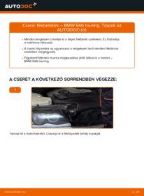 Hogyan végezze a cserét: 320d 2.0 BMW 3 Touring (E46) Fékbetét