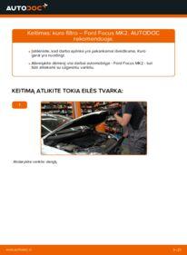 Kaip atlikti keitimą: 1.6 TDCi Ford Focus mk2 Sedanas Kuro filtras