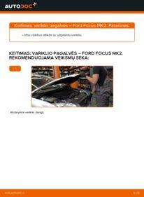 Kaip atlikti keitimą: 1.6 TDCi Ford Focus mk2 Sedanas Variklio montavimo rėmas