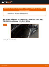 Kaip atlikti keitimą: 1.6 TDCi Ford Focus mk2 Sedanas Išorinis veidrodėlis