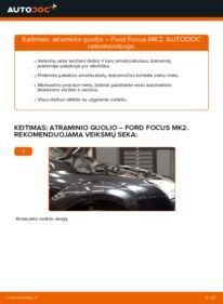 Kaip atlikti keitimą: 1.6 TDCi Ford Focus mk2 Sedanas Amortizatoriaus Atraminis Guolis