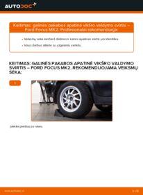Kaip atlikti keitimą: 1.6 TDCi Ford Focus mk2 Sedanas Vikšro Valdymo Svirtis