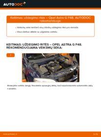 Kaip atlikti keitimą: 1.6 16V (F08, F48) Opel Astra g f48 Uždegimo ritė