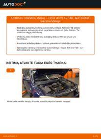 Kaip atlikti keitimą: 1.6 16V (F08, F48) Opel Astra g f48 Stabdžių diskas