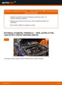 Kaip atlikti keitimą: 1.6 16V (F08, F48) Opel Astra g f48 Stabdžių Kaladėlės