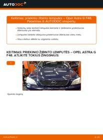Kaip atlikti keitimą: 1.6 16V (F08, F48) Opel Astra g f48 Lemputė, priekinis žibintas