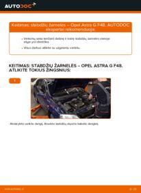 Kaip atlikti keitimą: 1.6 16V (F08, F48) Opel Astra g f48 Stabdžių žarnelės